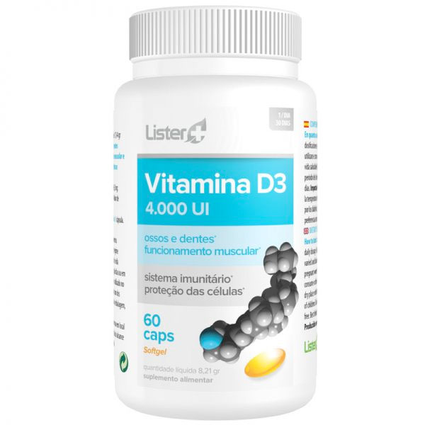 Vitamina D3 4000 UI Lister